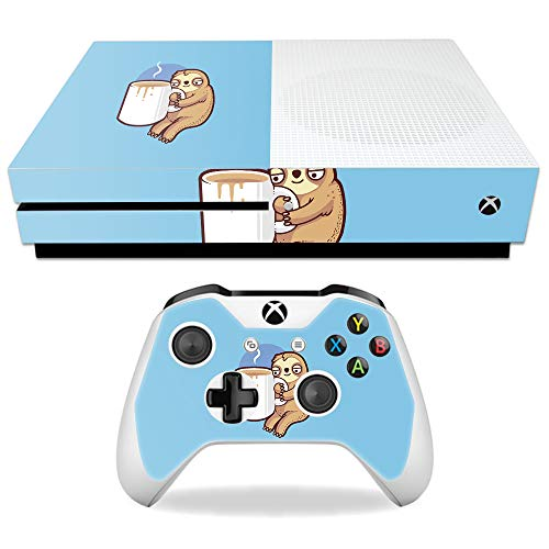 MightySkins Skin Compatible with Microsoft Xbox One S - Good Morning Sloth | Protective, Durable, and Unique Vinyl Decal wrap Cover | Easy to Apply, Remove, and Change Styles | Made in The USA