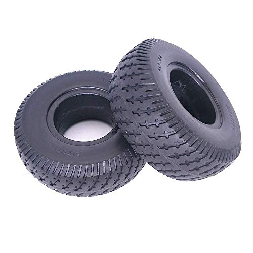 CHHD Neumáticos para patinetes eléctricos, 9 Pulgadas 9x3.50-4 Neumáticos sólidos Antideslizantes Resistentes...