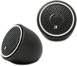 Kicker 46CST204 CS Series 100W Peak Power 0.75 Inch 4 Ohm 92 Decibel Three Option Fitting Titanium Tweeter Car Audio Speakers (Pair)