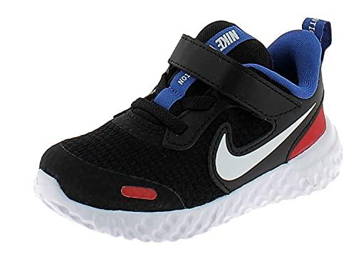 Nike Revolution 5, Zapatillas, Black White University Red Gam, 26 EU