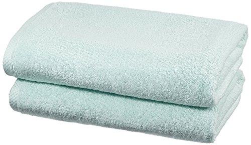 Amazon Basics - Juego de 2 toallas de secado rápido, 2 toallas de baño - Azul claro