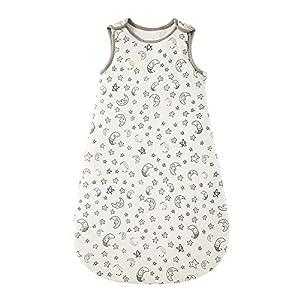 Saco de dormir para bebé, 100 % algodón, para todo el año, ajustable, transpirable y cálido, para niños pequeños (altura < 66 cm)