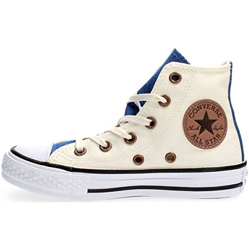 Converse Unisex-Kinder Chuck Taylor All Star High Fitnessschuhe, Weiß (Egret/Nightfall Blue/White 281), 31 EU