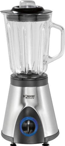 Bomann 613541 Batidora de Vaso, jarra cristal 1.5 litros, 3 velocidades +...