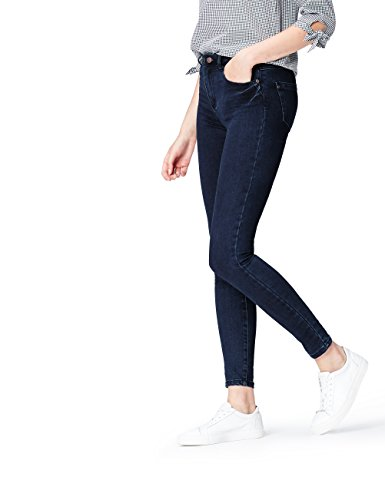 Marchio Amazon - find. Jeans Skinny Vita Regular Donna, Deep Indigo, 34W / 32L, Label: 34W / 32L