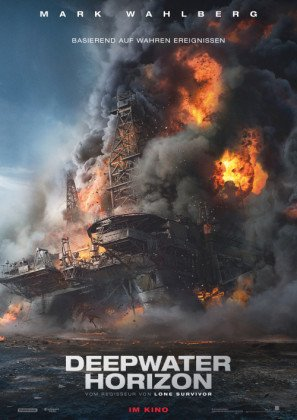 Deepwater Horizon - Mark Wahlberg – German Movie Wall Poster Print - 43cm x 61cm / 17 Inches x 24 Inches A2