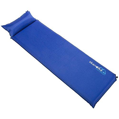 skandika Vegas Selbstaufblasende Doppel-isomatte Mit Kissen, blau, XL