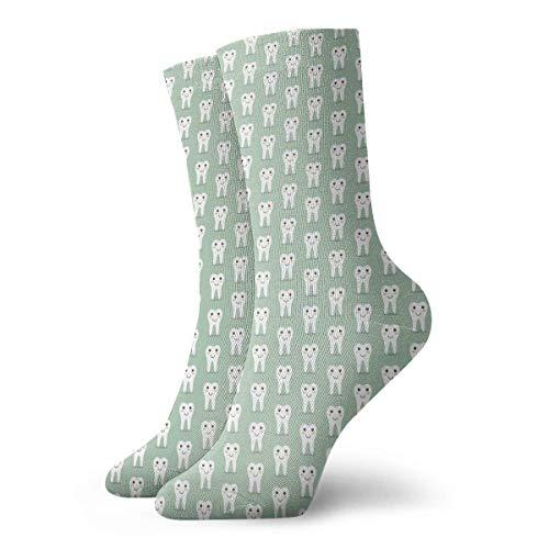 Unisex-Socken mit niedlichem Cartoon-Zahn, atmungsaktiv, Fantasie, Knöchel, Laufen, Wandern, Wochenende, Sport, Athletik, Socken, kurze Crew-Socken, 30 cm