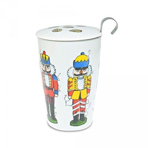 TEAEVE Teetasse, Motiv Doppelwandiger Becher mit Teesieb Nutcracker