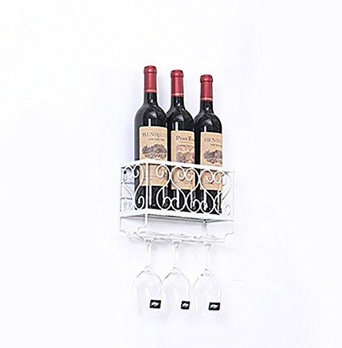 Estante for vinos - estante for vinos porta vino rojo vino portavasos montado en la pared taza alta boca abajo creativo estante for vinos colgando decoración de estantes for vinos (tamaño 25cmX16.5cmX