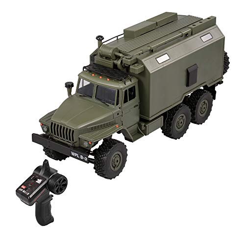 GoolRC WPL B-36 RC Military Truck, 1:16 Scale 6WD 2.4Ghz Remote Control Army Car for Adults and Kids