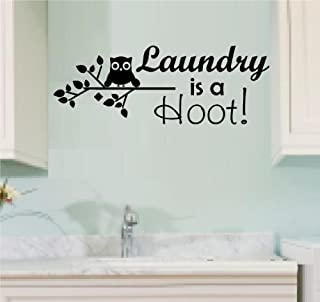 LAUNDRY IS A HOOT OWL LAUNDRY ROOM VINYL WALL DECAL HOME DECOR QUOTE SAYING WALL LETTERS LAUNDRY ROOM