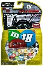 2017 NASCAR Authentics Kyle Busch #18 1/64 MMs M&Ms Diecast With Diecut Magnet