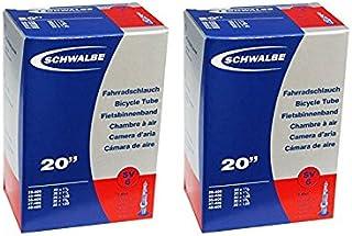 SCHWALBE(シュワルベ) 20×1.10/1.50、20×11/8(406)用チューブ 仏式40㎜バルブ 6SV 2本セット [並行輸入品]