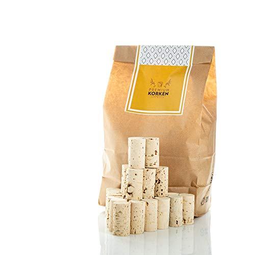 Sughero/tappi per vino in sughero naturale 24 mm x 45 mm – tappi per bricolage in carta Kraft/tappi per bottiglie per fai da te – decorazione, creazione, fai da te chiaro
