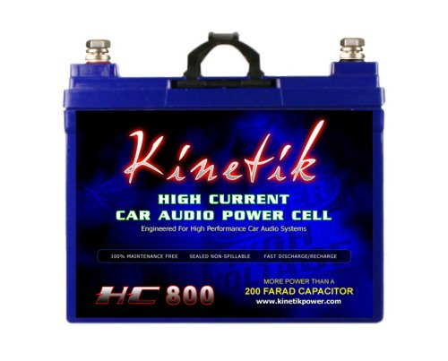 Kinetik HC800 BLU 800W 12V High Current AGM Car Audio Battery Power Cell (BLU Series)