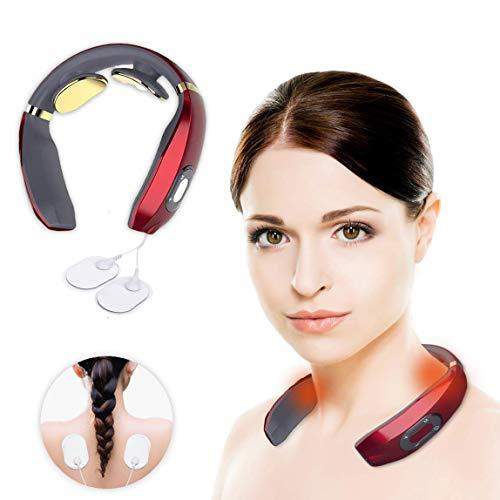 Nitoer Nackenmassagegerät, Intelligentes Nackenmassagegerät, Neck Relax,drahtloses 3D Reise Nackenmassagegerät,Elektro Magnetic Pulse Nackenmassage mit Heizungs-Funktion Geeignet für Haus,Büro