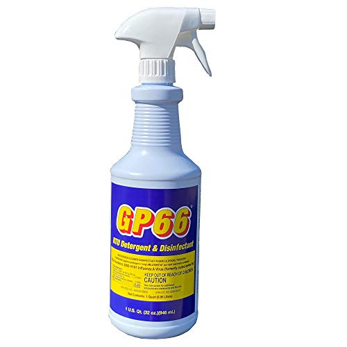 Ready to Use GP66 EPA Registered Disinfectant Spray *VIRUCIDE, Cleaner, Detergent, and Deodorizer Supersize (32 oz) Pleasant Aroma Hospital and Home Use On Just About Anything Anywhere