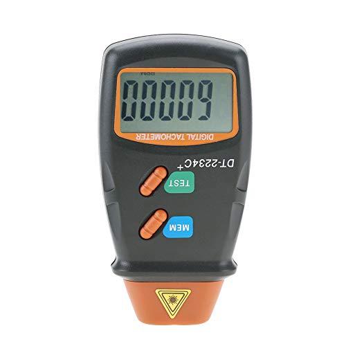 Akozon Digitaler berührungsloser LCD Laser Tachometer Drehzahlmesser Digital Tachometer LCD RPM-Test Kleinmotoren Motor Speed Berührungslos für Geschwindigkeitsmessung von Reifen, Motoren, Motoren