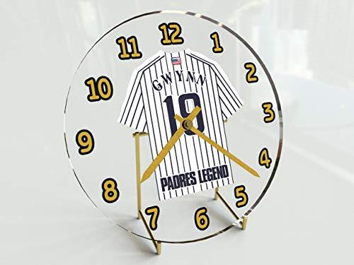 FanPlastic All-TIME Greats Baseball Legend Table Clocks - Tony Gwynn 19 Padres Edition - 7' X 7' X 2' M L B Legends Jersey Themed Legend Clock
