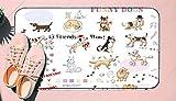 DIIRCYB Felpudo Lavable Antideslizante Interior Exterior de la Estera de la Puerta,Funny Dogs Sketches Set Hand Drawn Illustration,Alfombra de Cultivo de Bricolaje, para la Alfombra casera del Piso d