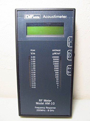 EMFields Acoustimeter AM11 EMF Meter, EMF Detector Now Measures 5G, Widest Spectrum 0.2-8.0GHz, Measure Peak and Average RF Exposure, Built-in Speaker