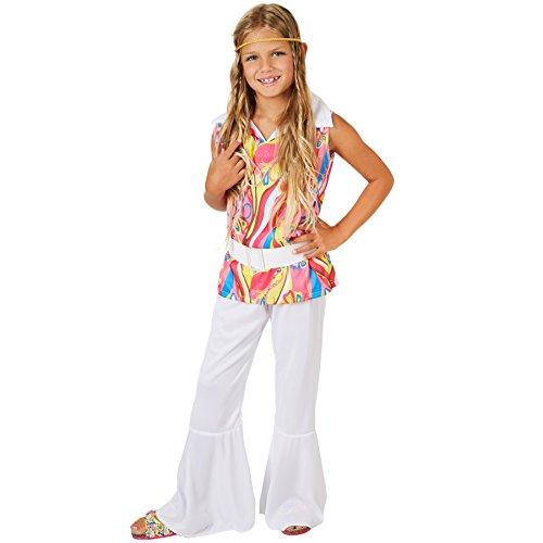TecTake dressforfun Mädchenkostüm Dancinggirl, farbenfrohes Oberteil | Inkl. Gürtel und Haarband (11-12 Jahre)