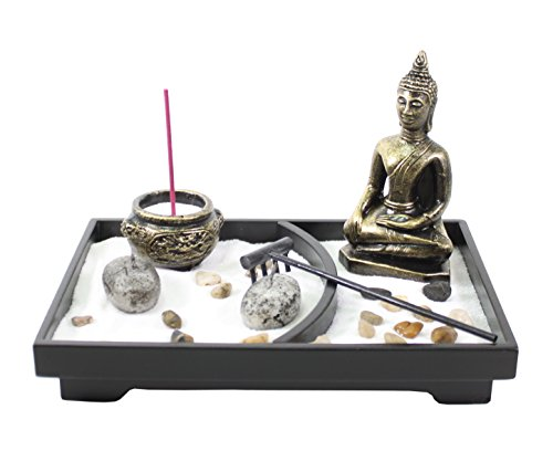 We pay your sales tax Tabletop Buddha Zen Garden Rock Sand Candle Holder...