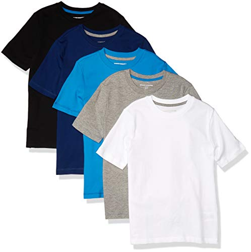 Amazon Essentials 5-Pack Boys Graphic Tees Novelty-t-Shirts, Blau gemischt, EU 146-152 cm