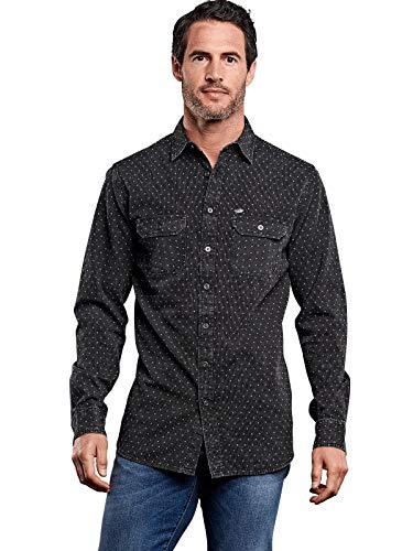 engbers Herren Hemd mit spezieller Waschung, 27957, Grau in Größe L