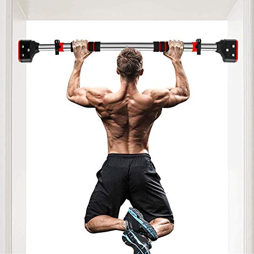 MUSCOACH Pull Up Bar for Doorway Chin Up Bar Wall Mounted No Screws Locking Sit Up Bar Trainer Work-Out for Home Gym Exercise,28