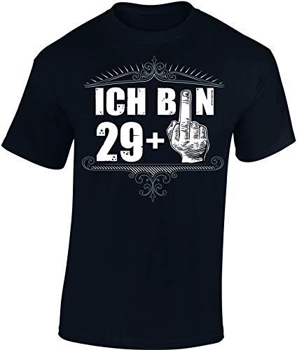 T-Shirt: Ich Bin 29 + - 30. Geburtstag - Jahrgang 1991 - Fun-Shirt - Geburtstags-Geschenk Mann Männer Frau-en - Damen Herren - Lustig Birthday - Dreißig-Ster - Forever Ü30 Party 29 Plus (XXL)