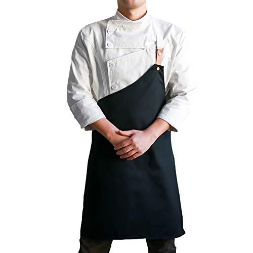 Conjunto De Delantal De Chef Abrigo De Trabajo Y Delantal De Cocina Delantal Ajustable Para Adultos Para Hombre Y Mujer, 4 Tamaños Disponibles,C,XL