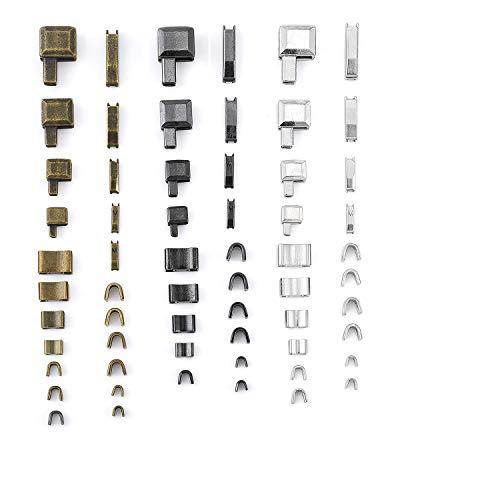 Reißverschluss Reparatur set für#3#5#8#10 4 Style Abnehmbar und frei kombinierbar ersatz Zipper Endstücke oben+unten,reißverschluss für Bekleidung,Koffer,Taschen.mit Vorratsbehälter(24set 60Zubehör