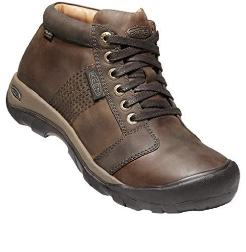 KEEN Men's Austin Mid Height Waterproof Casual Ankle Boot, Chocolate Brown/Brown, 12