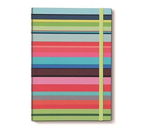 Remember Notizbuch DIN A4 mit Gummiband Stripes x 21 x 29,7 x 1,5 cm