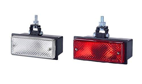 2 x Weiß Rot Hinten Rück und Nebel Leuchte 12V 24V Birne 1xG03/1xG16