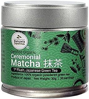 Nature's Superfoods Organic Ceremonial UJI Matcha Powder (First Flush), 30g