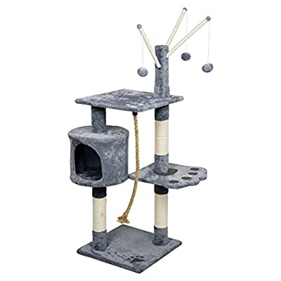 LEMAIJIAJU Cat Tree Cat Scratcher Activity Centres Scratching Post with a hammock by RHGEELY