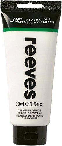 Reeves - Pintura acrílica Reeves Intro - 200 ml, Blanco de