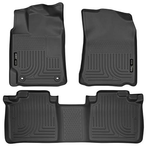 Husky Liners 98901 Black Weatherbeater Front & 2nd Seat Floor Mats Fits 2012-2017 Toyota Camry
