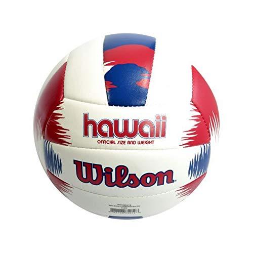 Wilson, Pallone da beach volley, AVP Hawaii, Rosso/Blu, Pelle sintetica, Outdoor, Dimensioni ufficiali,  WTH80219XB