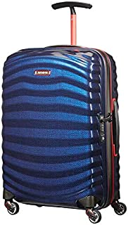Samsonite - Lite Shock Sport 55cm Small Spinner Suitcase - Nautical Blue/Red