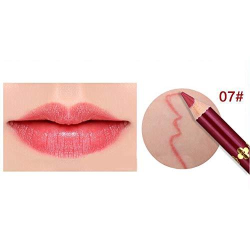 Yiwa Crayon imperméable à lèvres,Lipliner professionnel pour maquillage 7#