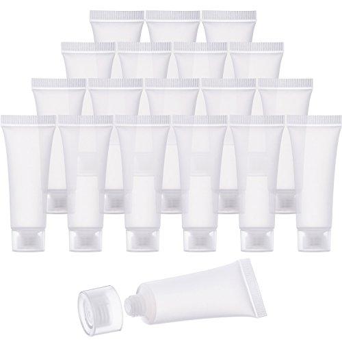 30 Pezzi 10 ml Tubi Vuoti Trasparente Contenitori Cosmetici Riempibile Plastica Tubi per Fai Da Te Tubo Lucido Labbro