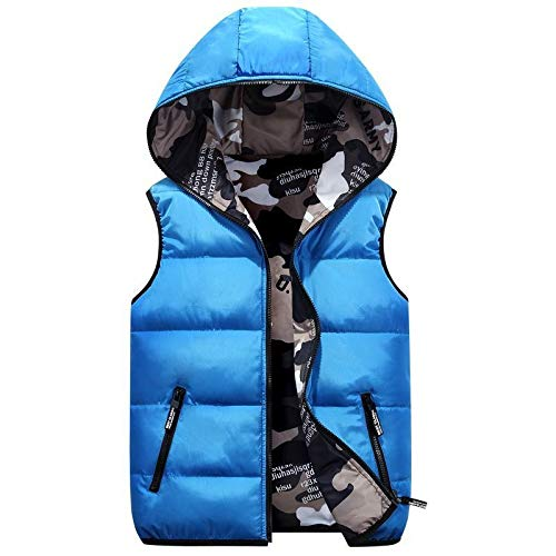 No Brand dames vest maat plus capuchon twee kanten camouflage warm winterjas zwart trainingspak mantel zonder mouwen
