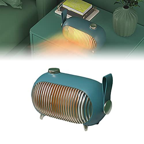HRTX Calentador, Calefactor Bajo Consumo, 1000w, 3 Niveles Regulables, Calefacción PTC, Alta Eficiencia Y Ahorro Energético, Apto para Cabañas de 15-25 Metros Cuadrados,Verde