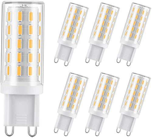 Mbswdd Bombilla LED G9 3W, 25W 30W G9 Reemplazo de Bombilla halógena, no Regulable Blanco cálido 3000K G9 LED Reemplazo no Regulable para iluminación del hogar,6 Pack
