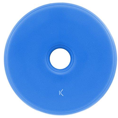 Ksix BXCQI05 - Cargador inalámbrico Mini (5 W, diseño Compacto y Ligero, Compatible con Smartphones y Dispositivo móvil habilitados para Qi) Azul
