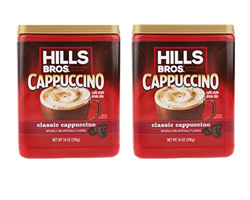 Hills Bros. Instant Cappuccino Mix, Classic Cappuccino Mix – Easy to Use and Convenient, Enjoy Coffeehouse Flavor at Home (14 Ounces) (Classic Cappuccino, Pack of 2)